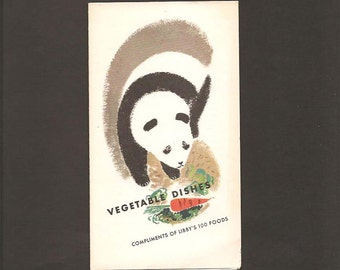 Vegetable Dishes - Compliments Of Libby's 100 Foods - Vintage Foldout Advertising Booklet c. 1938 - Mary Hale Martin