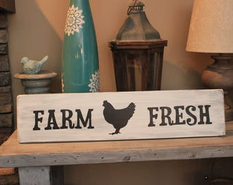 "Handpainted ""Farm Fresh"" wood sign"