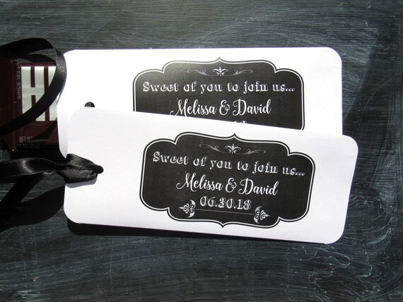 Wedding Favors | Candy Bar Wrappers  | Chalkboard Wedding | Chalkboard Favors | Candy Wraps | Candy Bar Holders | Candy Bar Favors