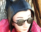 Simply- Styled Catwoman Aviator Hat in Black Leather