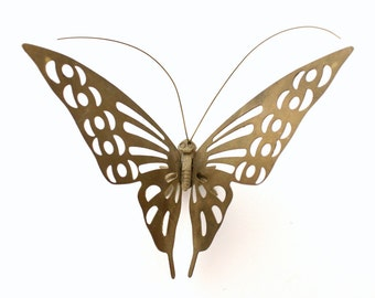 Vintage Brass Butterfly 3D Figurine