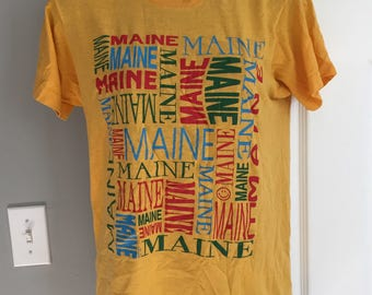 Vintage 1990s Maine t-shirt 50/50 Screen Stars small