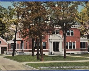 Postcard State Zumbro Street Residence Rochester Minnesota Antique Divided Back