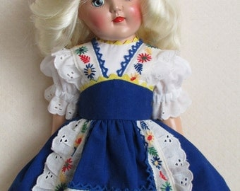 """For 16"""" P-91 Ideal Toni, Dress Inspired by an Original Toni Dress"""