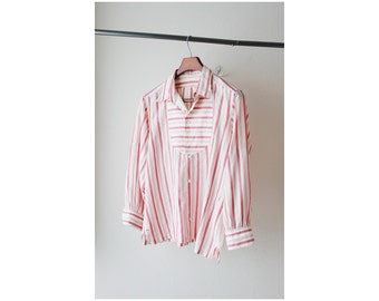 1950's Charvet Vendome Paris Pink Striped Shirt