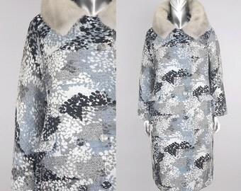 vintage tapestry coat | vintage fur tapestry coat | vintage 1960s coat