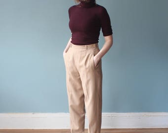 high waist trousers | high waisted camel pants | 1990s small