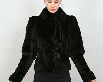 SALE - 1800s Rabbit Fur Coat