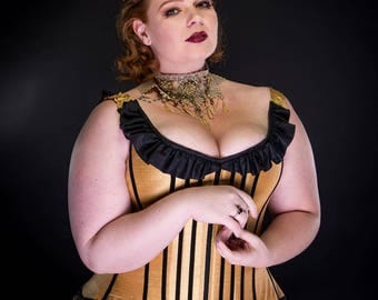 """Steampunk Belle Wedding Dress - Beauty and the Beast- FULL Outfit- Corset & Bustle Skirt """"Belle Steam Gown"""" - Custom Petite to Plussize"""