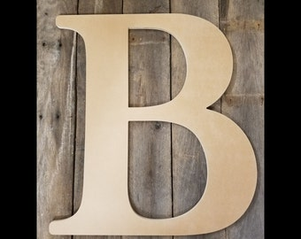 """Wedding Guest Book, Large Wooden Letter 24"""", for Indoor or Outdoor Use"""