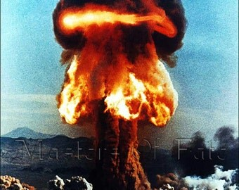 REMASTERED vintage ATOMIC BOMB Test Print 1950's (with or without Frame) Various Sizes