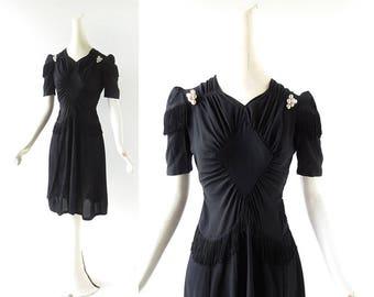 Vintage 1930s Dress | Diamond Lil | Fringe Dress | XS