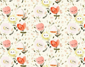 floral baby blanket   crib blanket   happy floral minky blanket   floral minky blanket   pink blanket   crib bedding   minky baby blanket