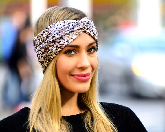 Leopard Headband Cheetah Print Yoga Headband Turban Headband Bohemian Style Festival Fashion Soft Headband Summer Fashion Beach Wear