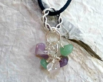 Anxiety and Stress Healing Stone Necklace, Gemstone Necklace