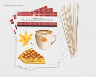 SHOP the SHELF Thanksgiving DIY Photo Booth Prop Kit >> shipped to you | Paper and Cake