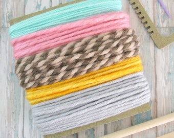 Weaving loom kit for hand weaving wall art - Yarn included