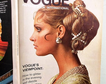 Vintage International Vogue Pattern Book Winter 1969 1960s Sewing Patterns Catalogue Magazine