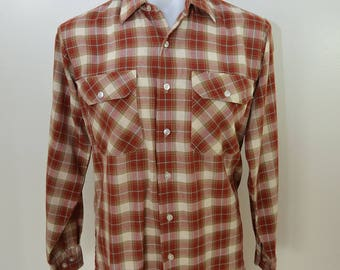 Vintage BIG MAC plaid work shirt made in USA small
