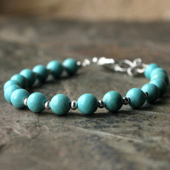 Small Size Beads: Turquoise Bracelet Small Blue Bead Plus Size Jewellery