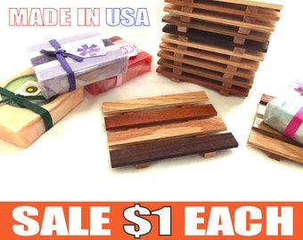 72 Reclaimed Wood Soap Dishes - 1.00 DOLLAR EACH - Lowest Prices online