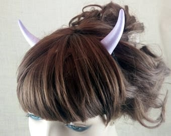 Pastel Purple Pearl Devil Horns Costume Accessory