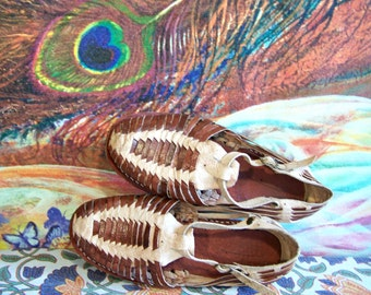 Child Huaraches, Mexican Sandal, Mexican shoe, Traditional Mexican, child leather sandal, woven leather shoe, size 1