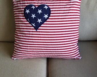 Patriotic Pillow Cover