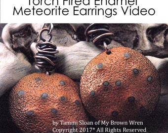 Sale: Torch Fired Enamel Tutorial Meteorite Earrings