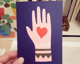 Mano card // Peace & Love // Love Token // Love // Unity // Peace // Love Message