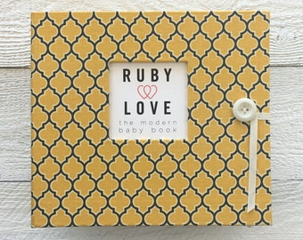 MOD Yellow and Gray Lattice | BABY BOOK