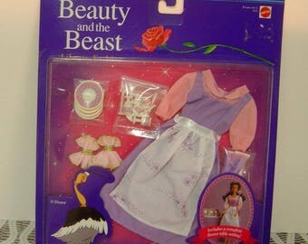 1992 Disney's Beauty and the Beast Belle Dinner Fashion Dress,Dinnerware & Cutlery