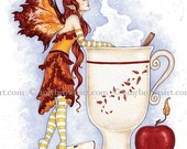 5x7 Cider fairy PRINT by Amy Brown