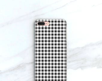 Check Phone Case - More Colors Available - Gingham iPhone 7,  iPhone 6S Plus, SE Case Vichy Print Summer Fashion Trend Samsung Galaxy