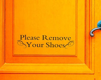 Remove Shoes Decal Etsy - Custom vinyl decals   removal options