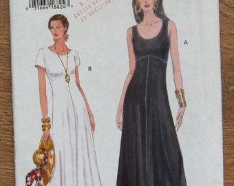 vintage 1994 vogue pattern 8936 misses pullover dress above ankle length short sleeves or sleeveless sz 14-16-18