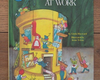 vintage 80s sesame street book TWIDDLEBUGS' At Work  children picture book boy girl
