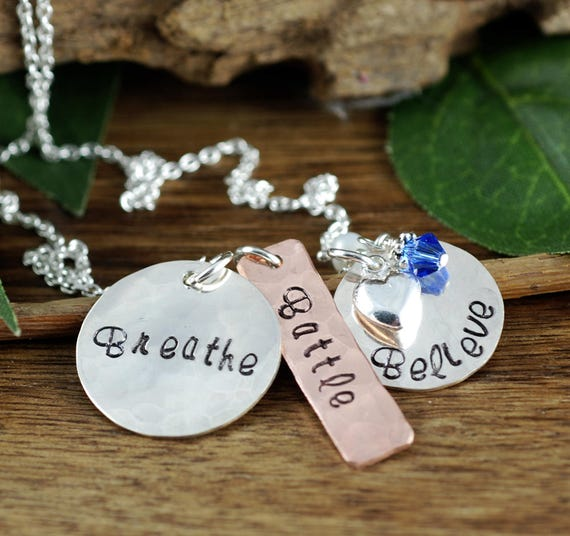 Inspirational Necklace, Believe Necklace, Stamped Jewelry, Awareness Necklace, Inspirational Jewelry, Encouragement Gift, Best Friend Gift