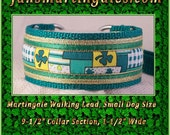 "Jansmartingales, Dog Collar Leash Combination Walking Lead,  Italian Greyhound, Small Dog Size,  9-1/2 "" Collar Section, Igrn089"