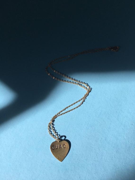Guac necklace - i love guacamole charm necklace