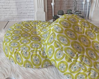 Midcentury Modern Floor Pillow // Retro Style // Round & Square Sizes // Midcentury Decor // Into Orbit Design // Geometric // Green Cushion
