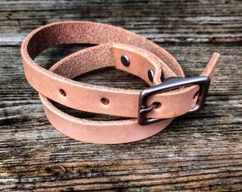 Double Leather Buckle Wrap Bracelet
