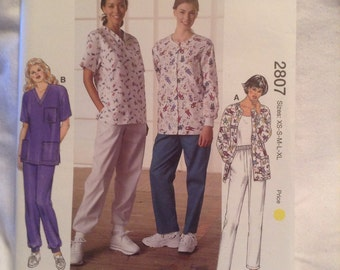 Kwik Sew Scrub Pattern 2807 for Misses DIY sewing