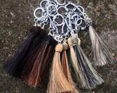 Custom Horse Hair Horsehair Tassel Charm With Keychain Attachment From Your Horse's Hair
