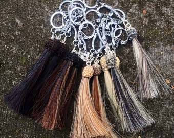 Custom Horse Hair Horsehair Tassel Charm With Keychain Attachment From Your Horse's Hair
