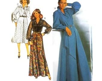 1970s Blouse and Midi or Maxi Skirt Pattern Burda 9633 B36 B37 B39 Uncut