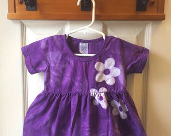 Purple Baby Dress, Flower Baby Dress, Baby Dress Set, Purple Flower Baby Dress, First Birthday Gift, Baby Girl Gift (12 months)