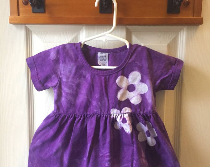 Featured listing image: Purple Baby Dress, Flower Baby Dress, Baby Dress Set, Purple Flower Baby Dress, First Birthday Gift, Baby Girl Gift (12 months)