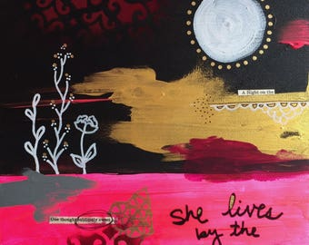 She lives by the moon 8x8 original