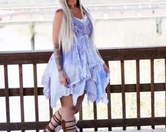 SALE L Gypsy spell sundress boho sundress, Bohemian slip dress Lilac sundress Purple slip dress, Weddings, Lace sundress True rebel clothing